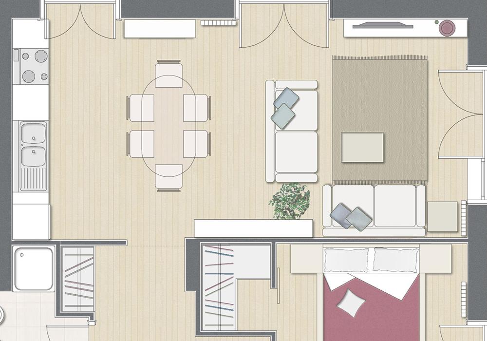 Studio 3c | Architettura | Ristrutturazione di un appartamento a Roma
